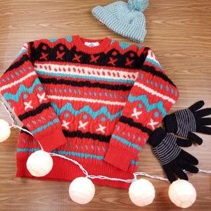 ✔Vintage Virgin Wool 100% Sun Valley Sweater
